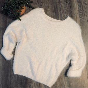 Lauren Conrad fluffy cropped sweater